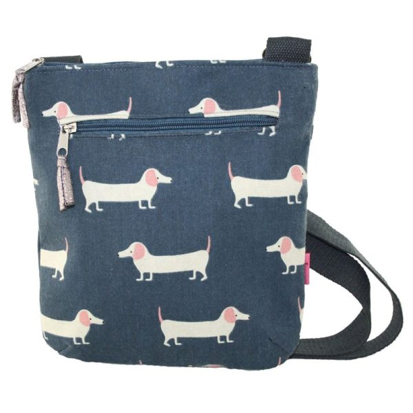 Slate Sausage Dog Messenger Bag