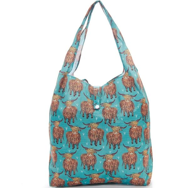 Teal Highland Foldaway Shopper