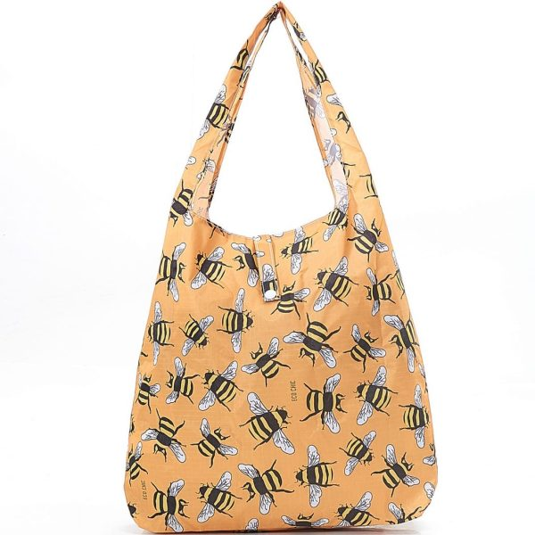 Yellow Bees Foldaway Shopper