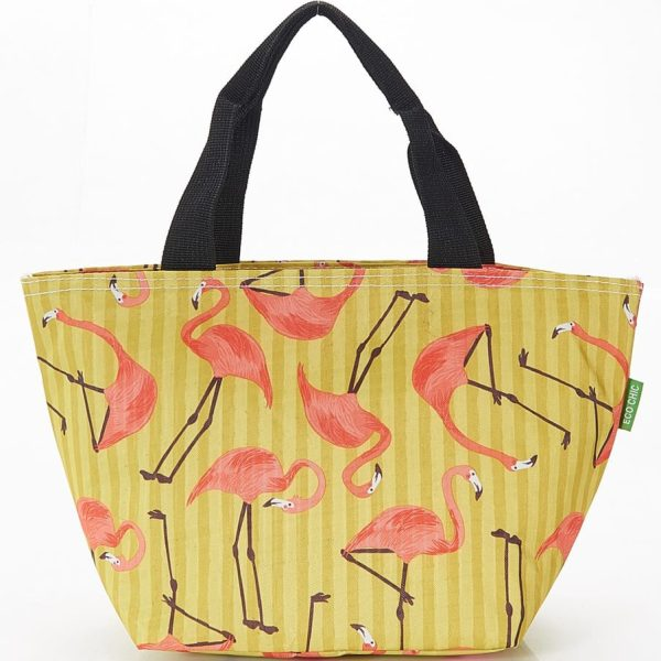 Yellow Flamingos Lunch Bag