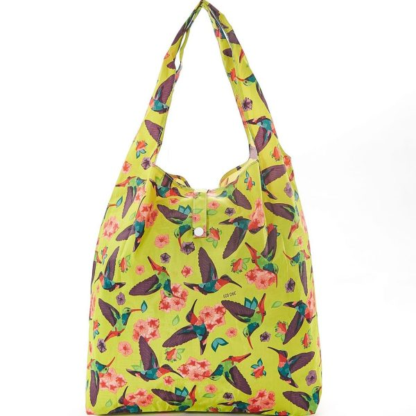 Yellow Humming Bird Foldaway Shopper