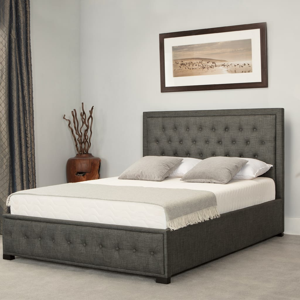 Albany Low End Ottoman Bed Grey