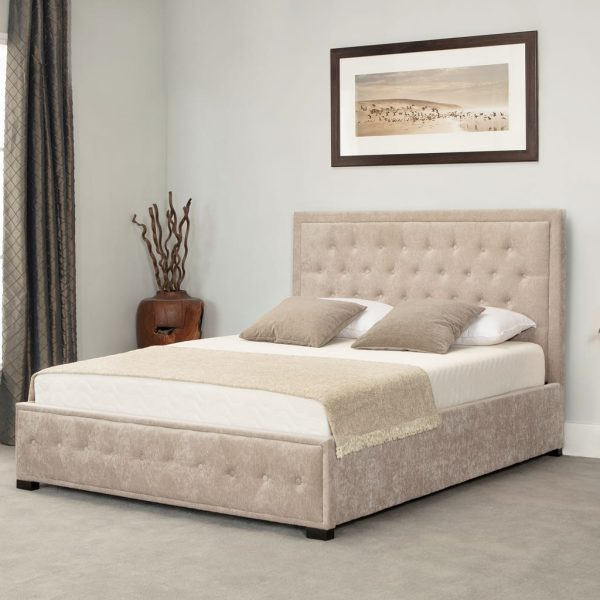 Albany Low End Ottoman Bed Stone