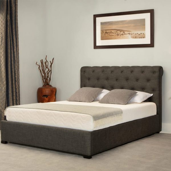 Balmoral Low End Scroll Ottoman Bed Grey