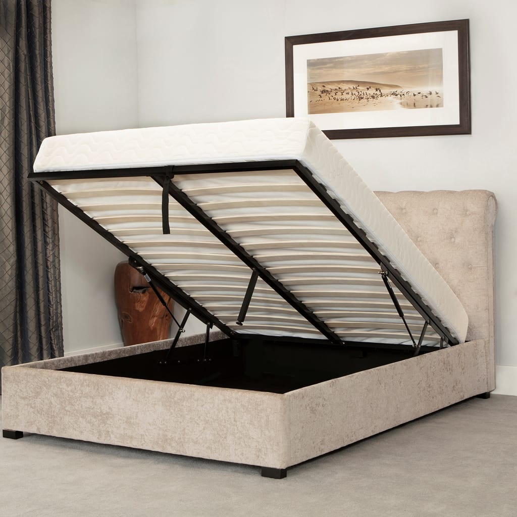 Balmoral Low End Scroll Ottoman Bed Stone
