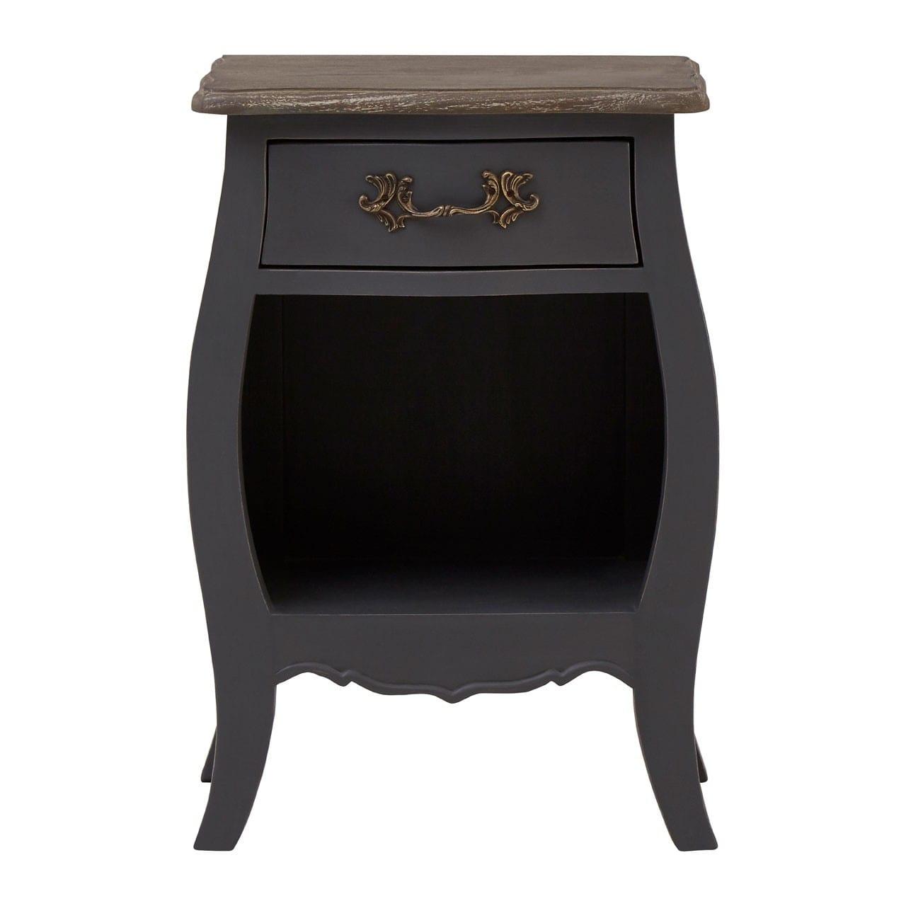 Bourges 1 Drawer 1 Shelf Grey Bedside Cabinet
