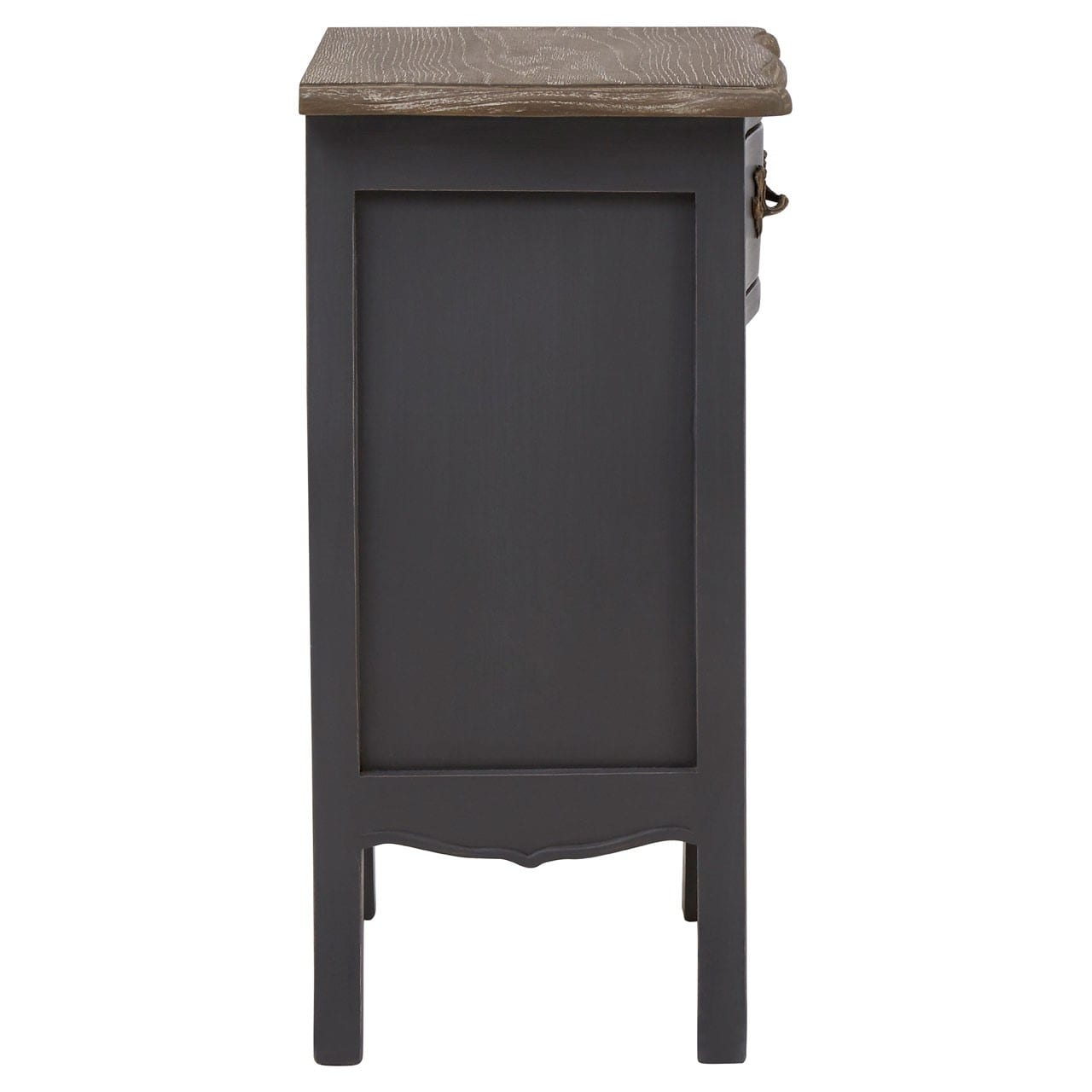 Bourges 1 Drawer 1 Shelf Grey Bedside Cabinet