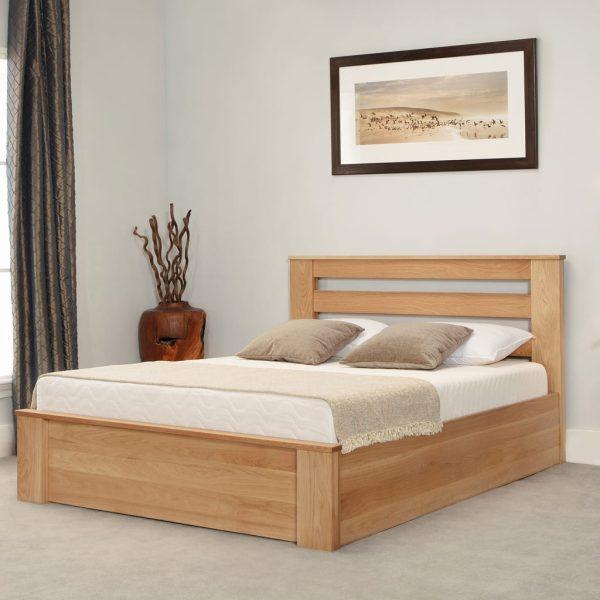 Charnwood Oak Ottoman Bed