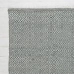 Dove Grey Diamond Rug