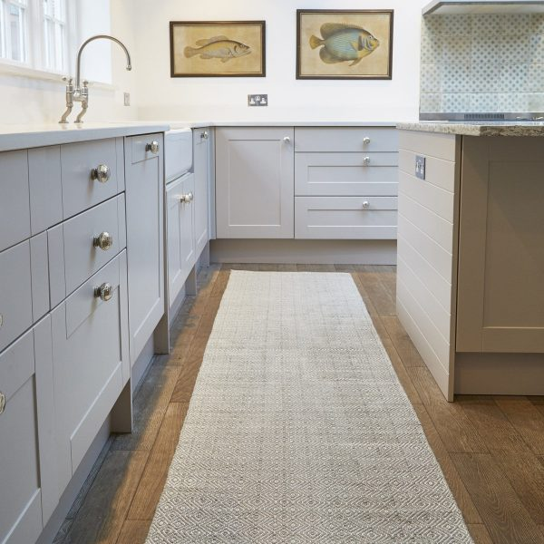 Dove Grey Diamond Rug