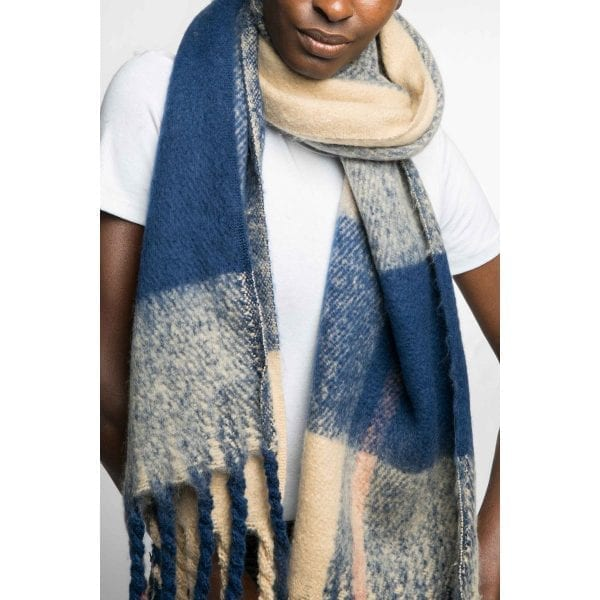 Multi Navy Scarf