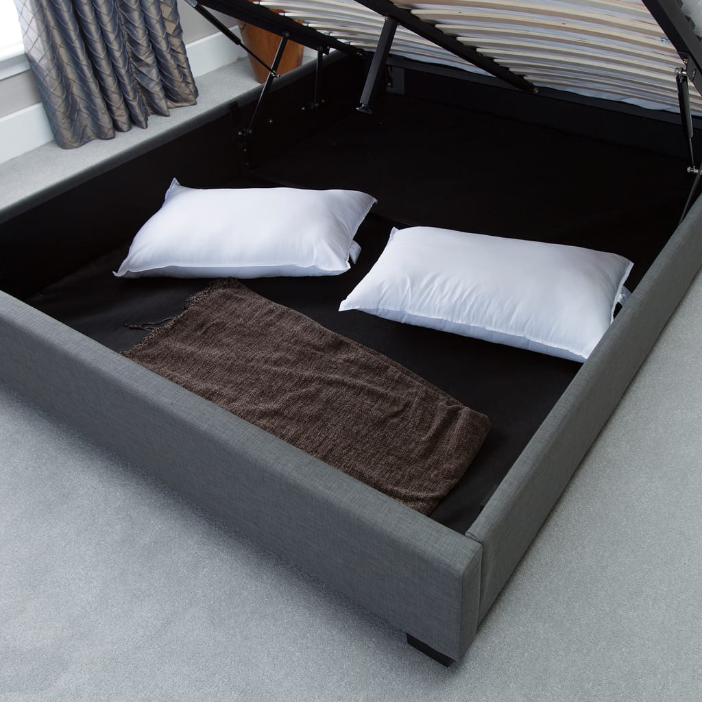 Kensington Wing Ottoman Bed Grey The Haven Home Interiors