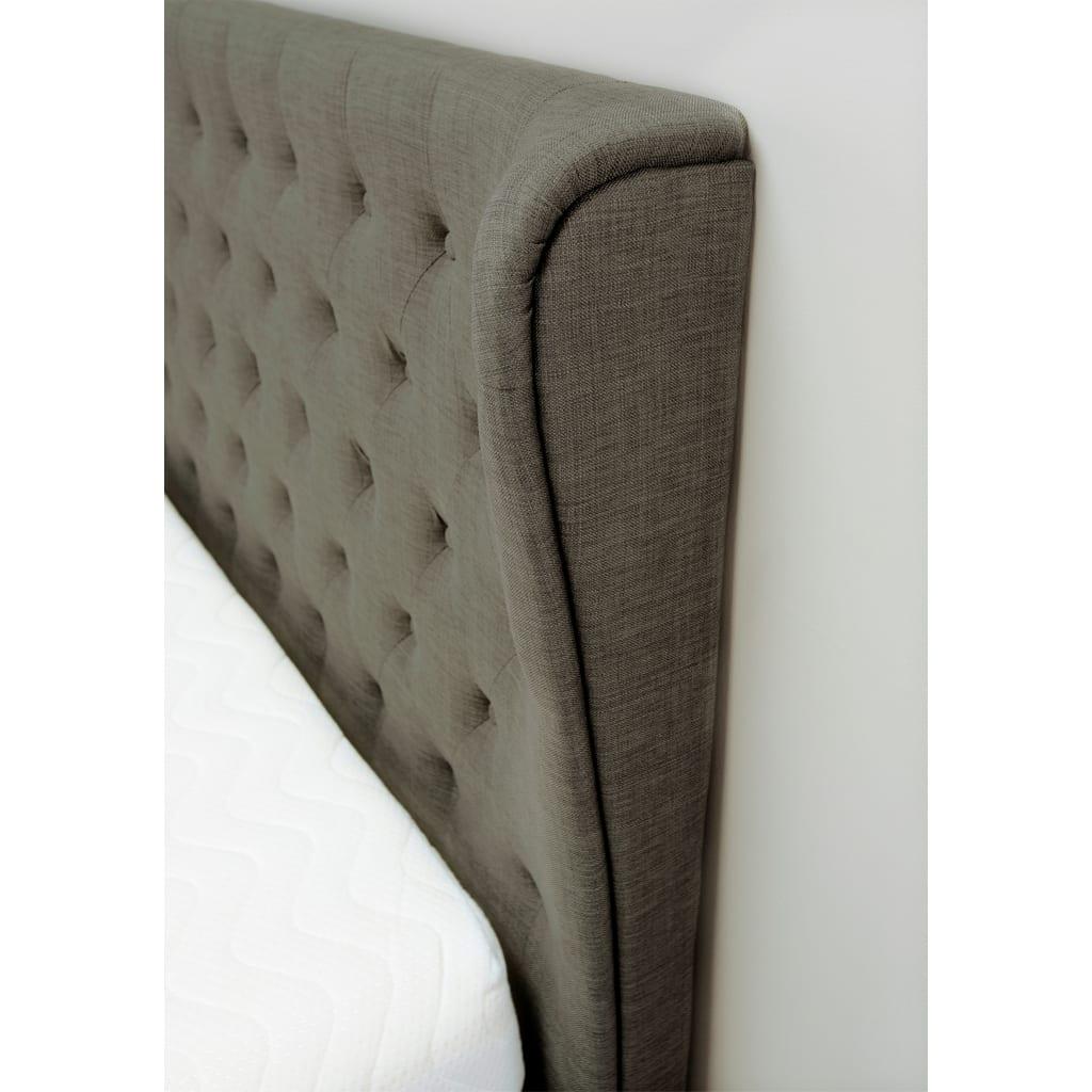 Kensington Wing Ottoman Bed Grey