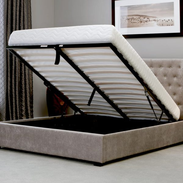 Kensington Wing Ottoman Bed Stone