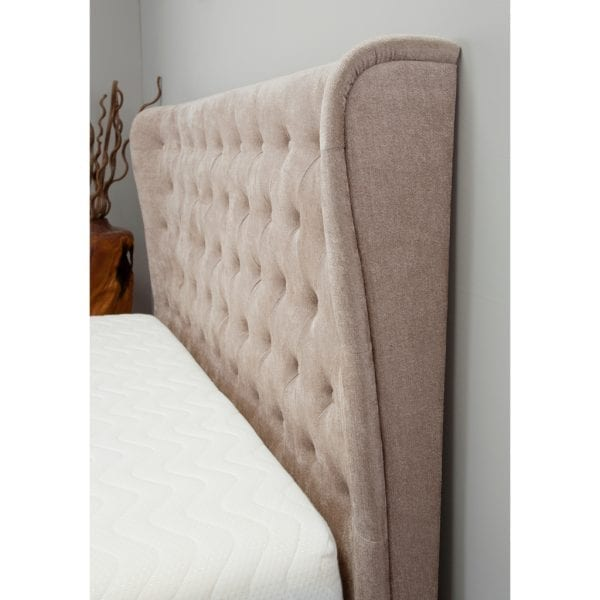 Kensington Wing Ottoman Bed Stone