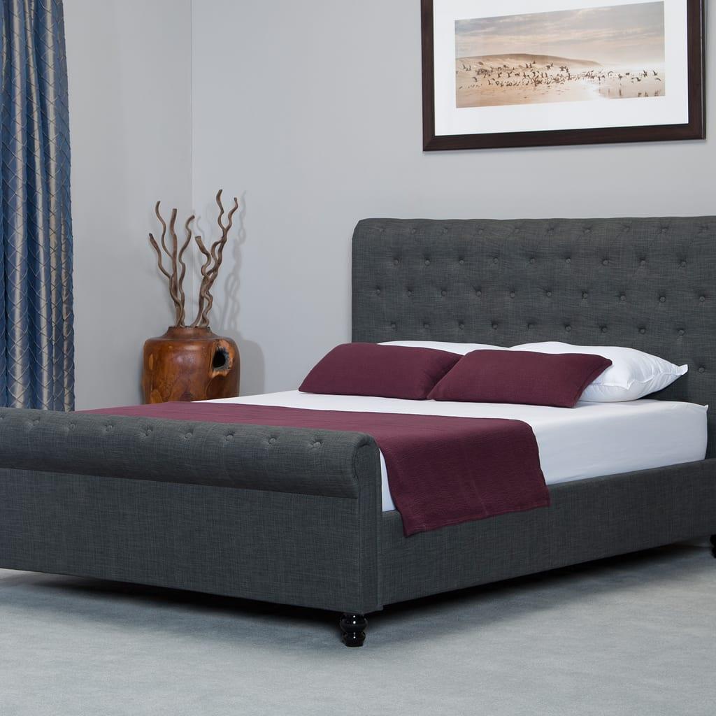 Oxford Scroll Ottoman Bed Grey