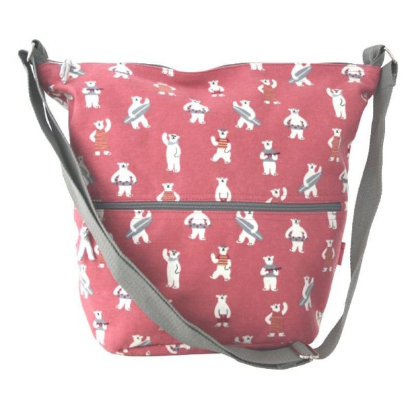 Pink Bears Cross Body Slouch Bag