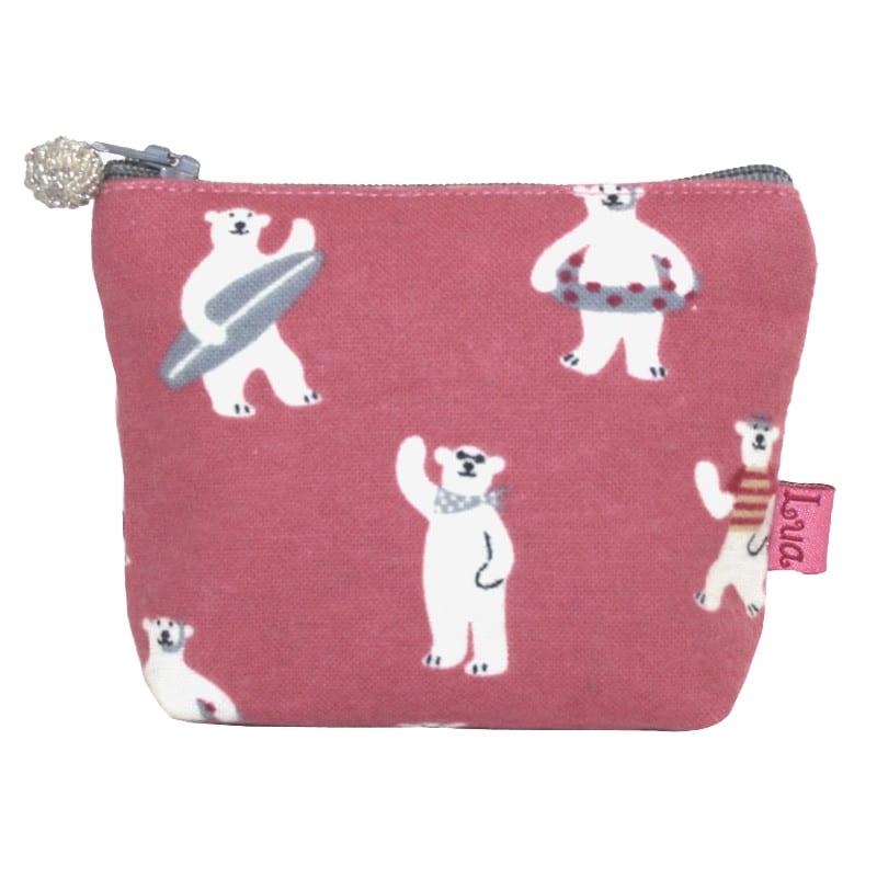 Pink Bears Mini Zip Purse