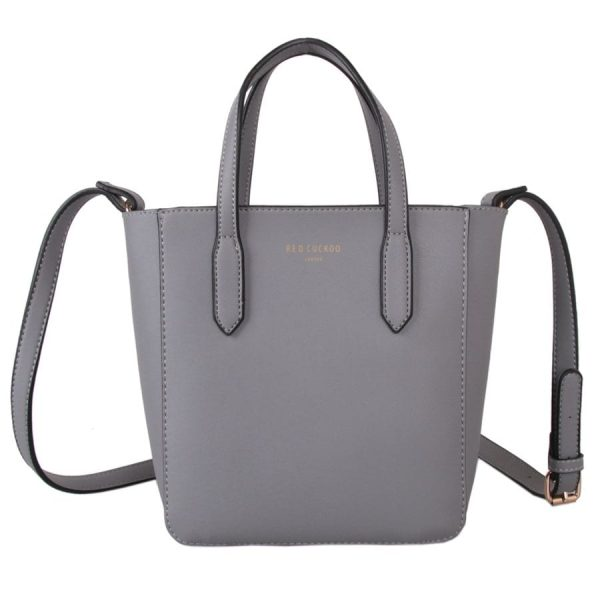 Small Grey Bucket Bag
