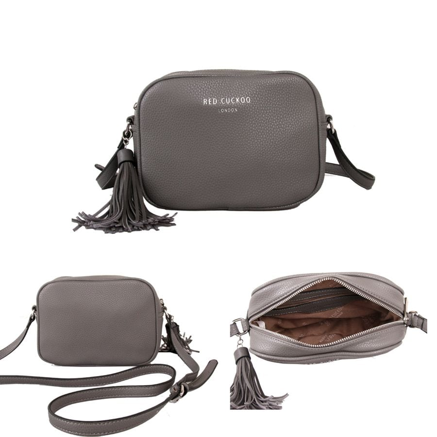 89ad12fbaacf Grey Tassel Cross Body Bag