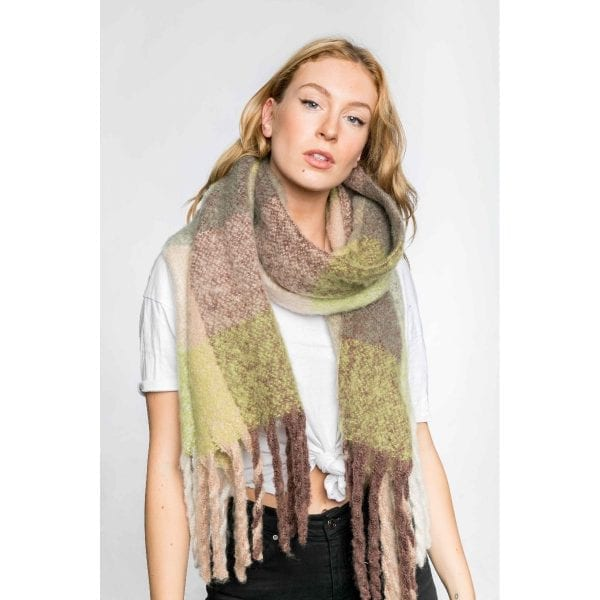 Multi Green Scarf