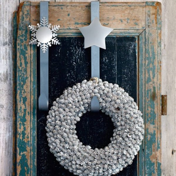 Nickel & Silver Wreath Hook
