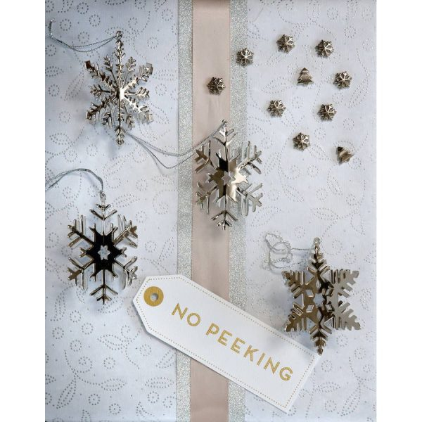 Set Of Four 3D Snowflake Decorations