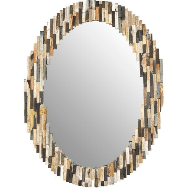 Basilica Multi Tile Oval Wall Mirror