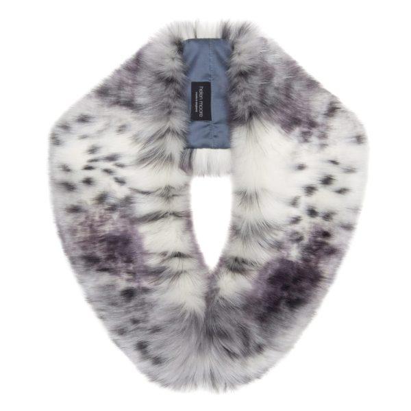 Arctic Leopard Faux Fur Hugo Collar