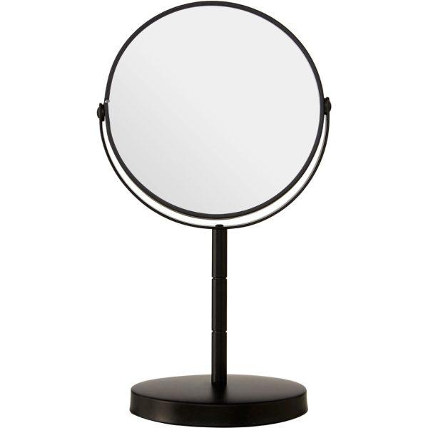Black Metal Small Swivel Table Mirror