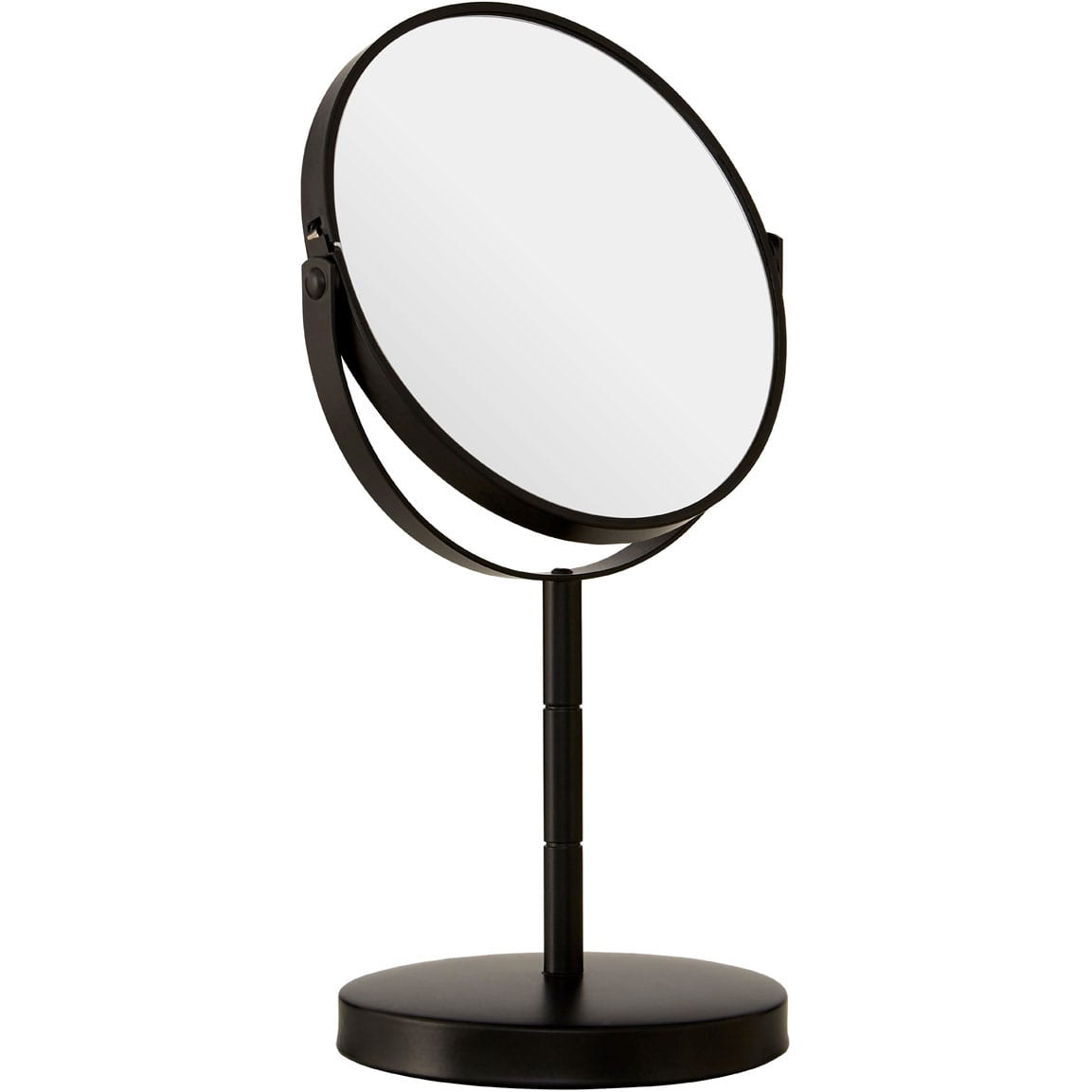 Black Metal Small Swivel Table Mirror