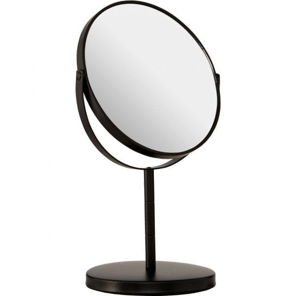 Black Metal Swivel Large Table Mirror