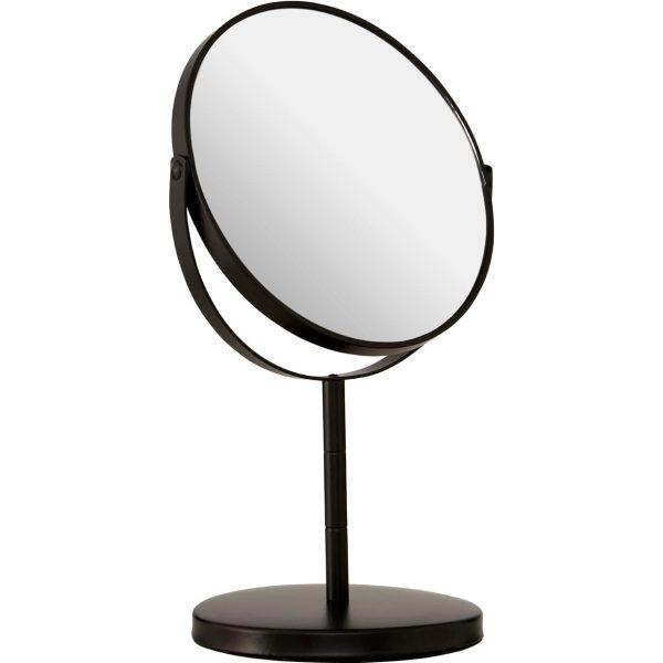 Black Metal Swivel Large Table Mirror