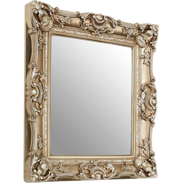 Cannes Champagne Finish Square Ornate Wall Mirror