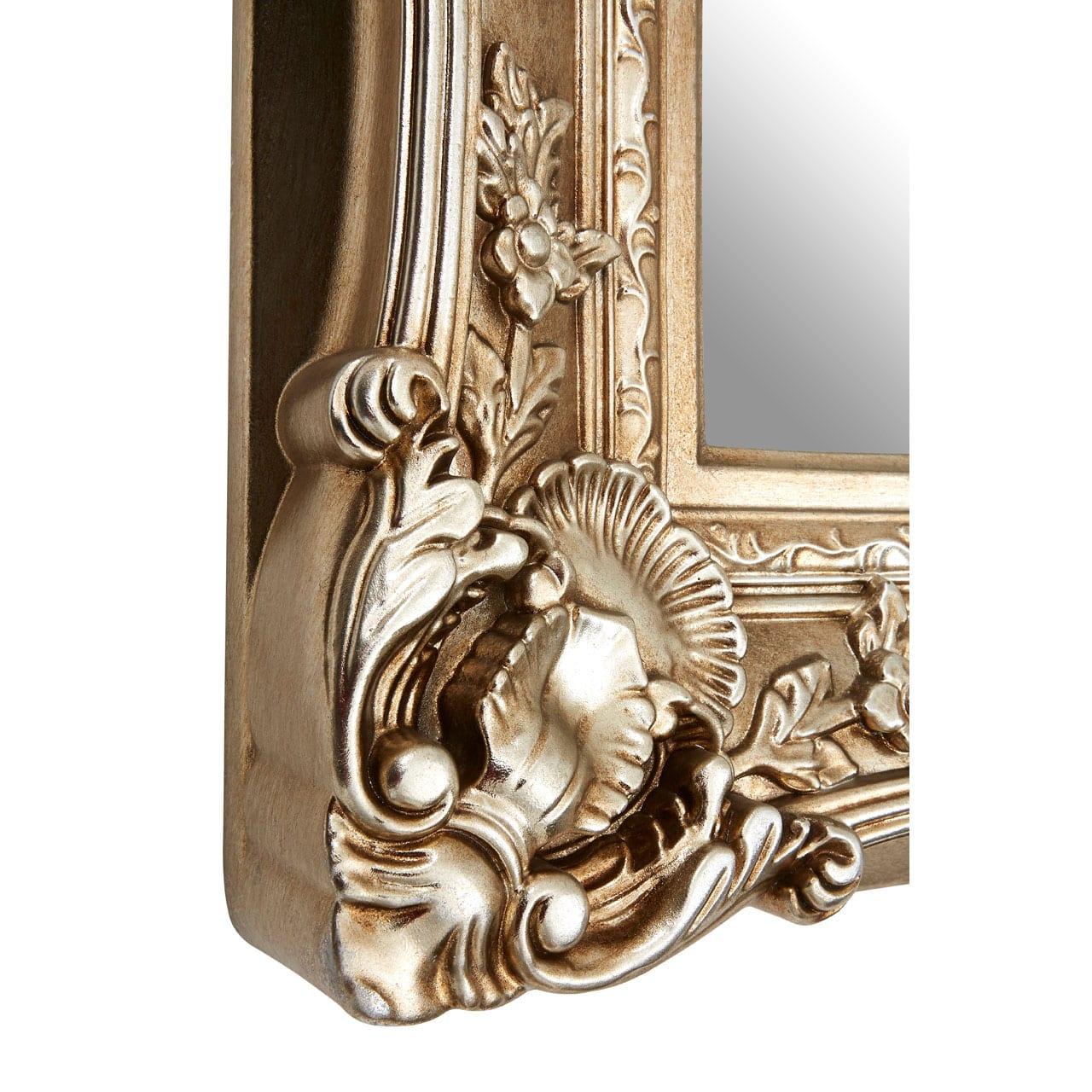 Cannes Champagne Finish Square Ornate Wall Mirror