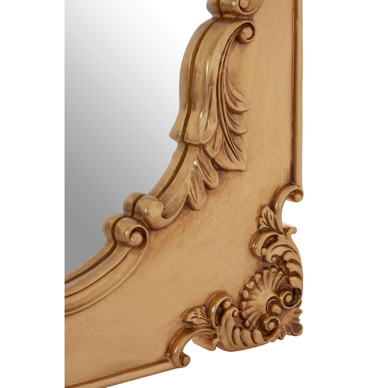 Cannes Gold Finish Indent Wall Mirror