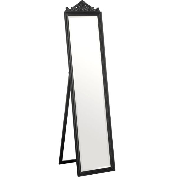 Colmar Black Floor Standing Mirror