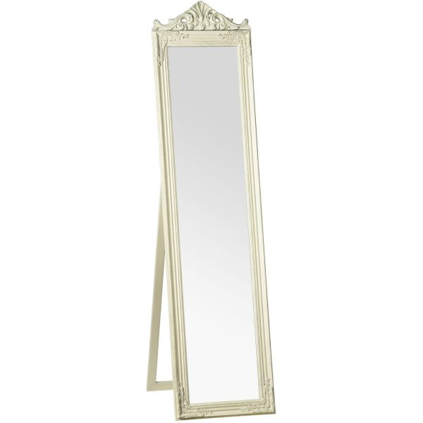 Colmar Cream Floor Standing Mirror
