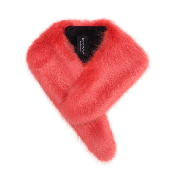 Coral Faux Fur Vintage Collar