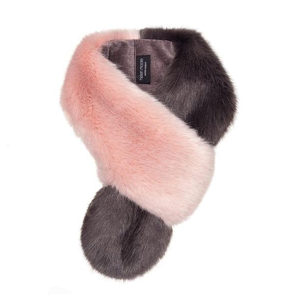 Dusky & Steel Faux Fur Petite Loop Scarf