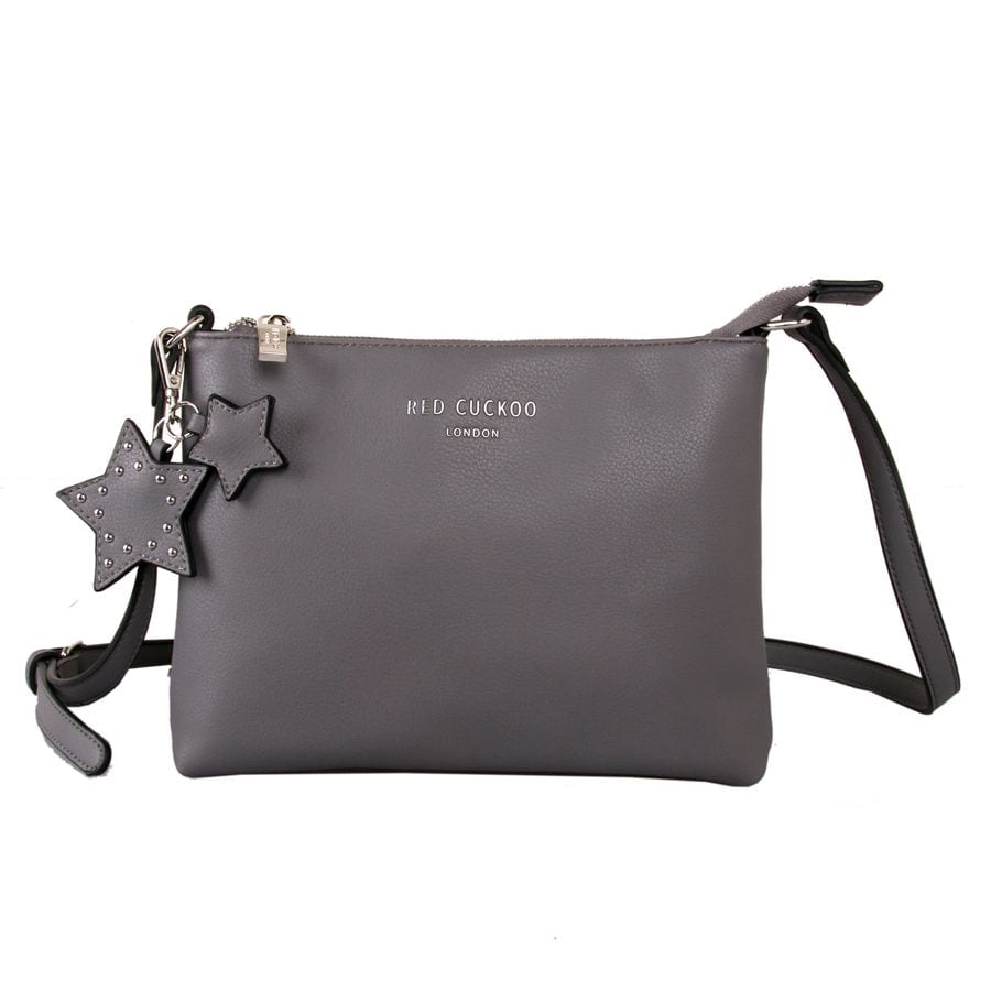 3def7d3929be Grey Cross Body Bag With Star Keychain