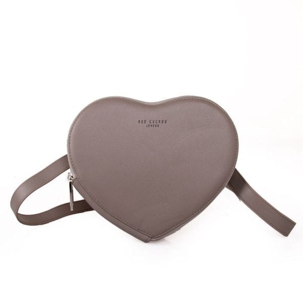 Grey Heart Pouch