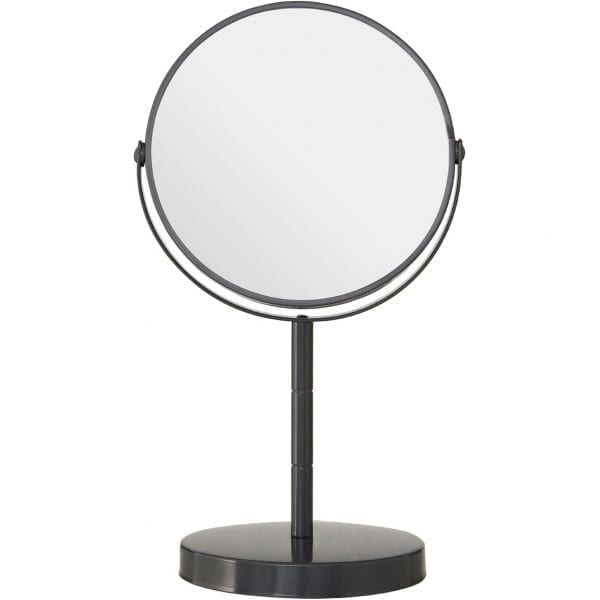 Grey Metal Small Swivel Table Mirror