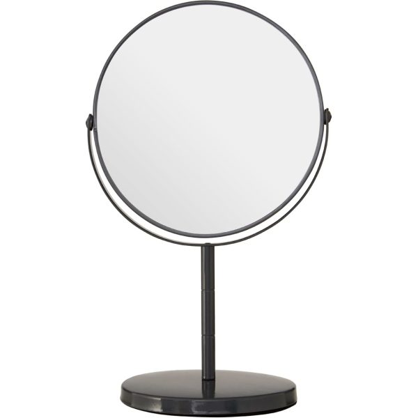 Grey Metal Swivel Large Table Mirror