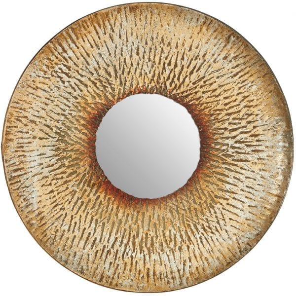 Hafsa Small Textured Wall Mirror