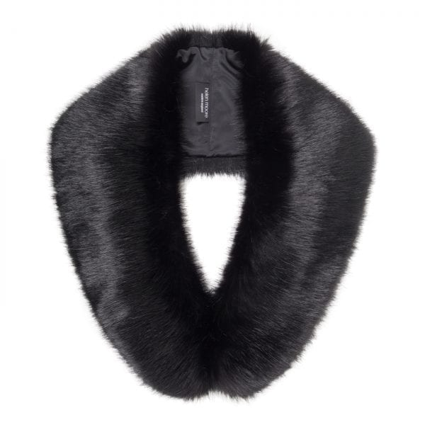 Jet Faux Fur Hugo Collar