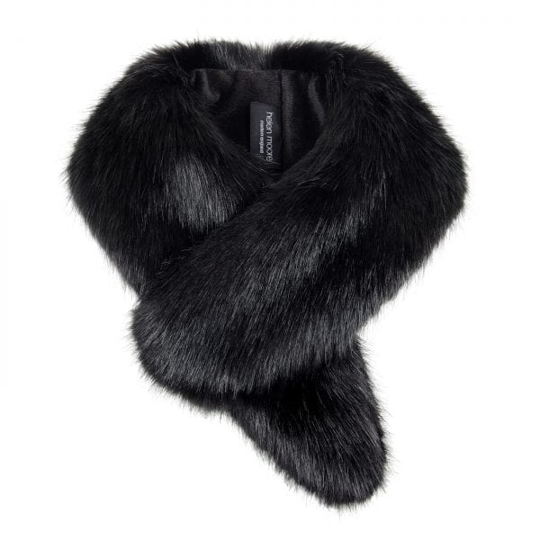 Jet Faux Fur Vintage Collar