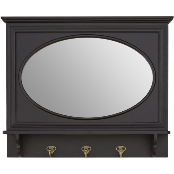Kettlewell Black Wall Mirror