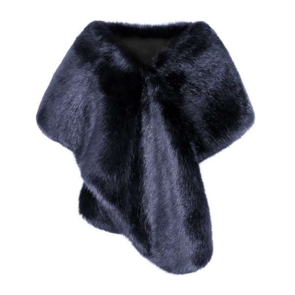 Midnight Faux Fur Stole