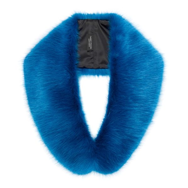 Ocean Blue Faux Fur Hugo Collar